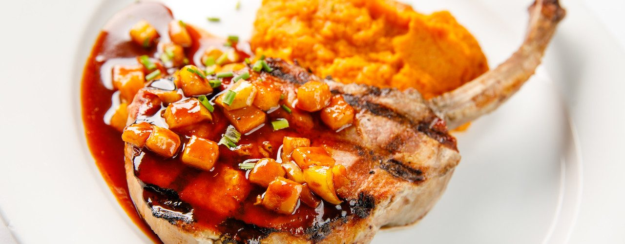 pork chop sweet mashed potatoes1