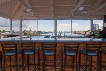 Bayside upper deck barstools